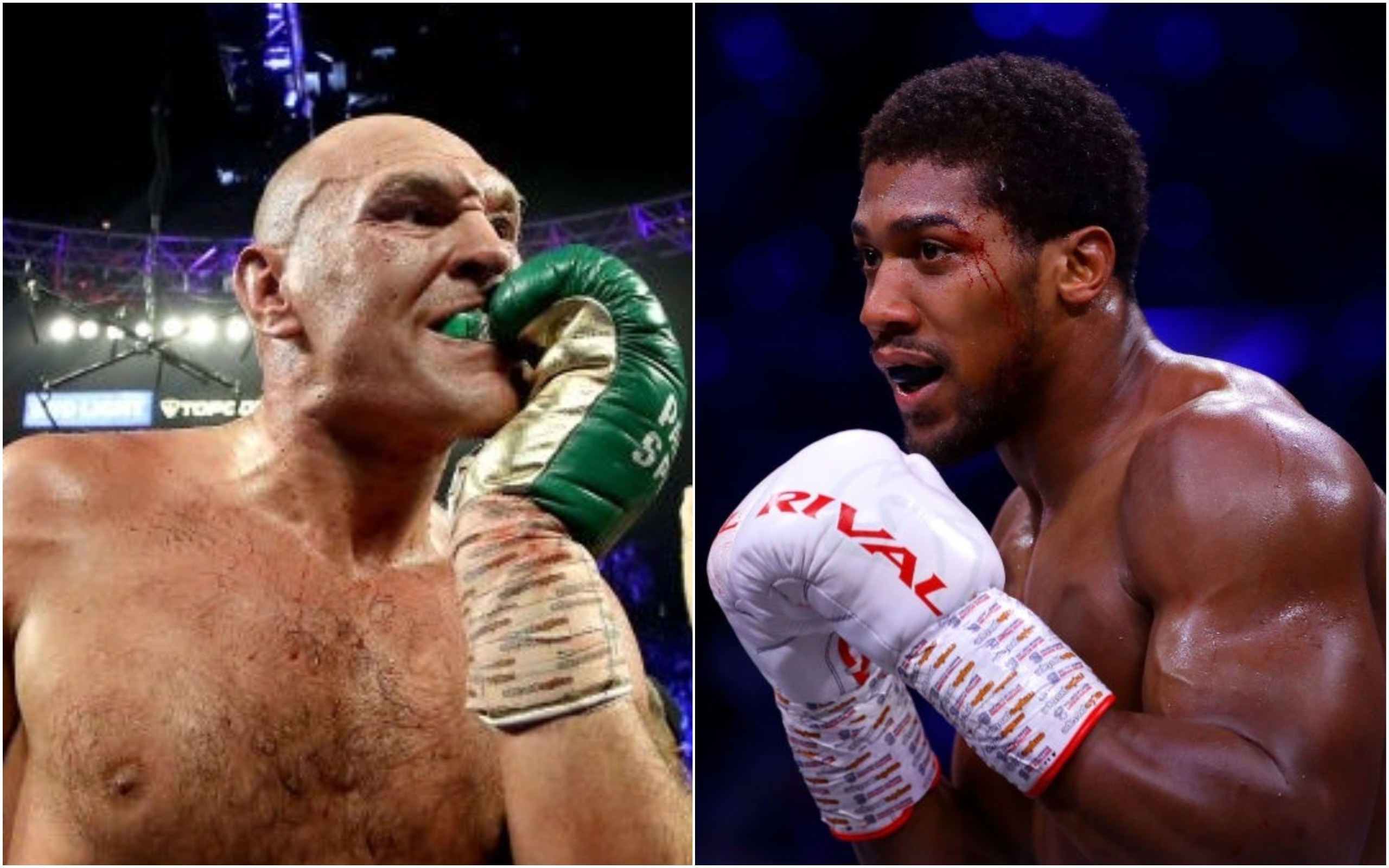 Tyson Fury & Anthony Joshua (Foto Cortesía)
