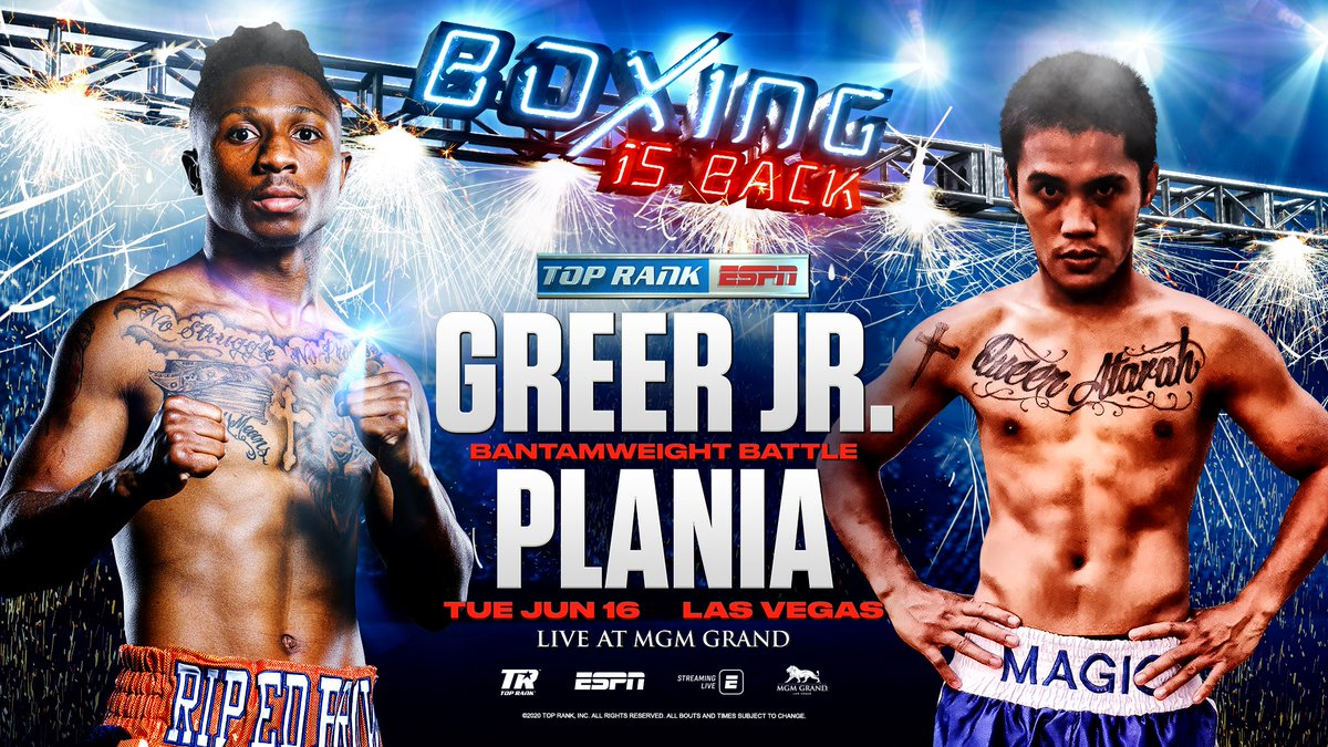 Greer Jr vs Plania (TOP RANK)